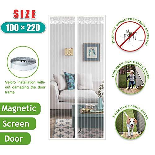 WLD Magnetisch vliegengaas voor deuren, vliegengaas, met magneet, klamboe voor deurgordijnen, insecten buiten te houden
