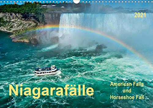 Niagarafälle - American Falls und Horseshoe Fall (Wandkalender 2021 DIN A3 quer)