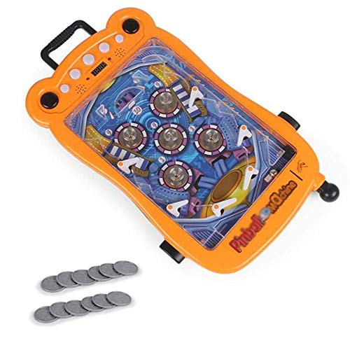 Space Pinball Toy Super Pinball Flipper für EIN Kinderfest Flipperspiel Blau und Orange Stil Retro Arcade