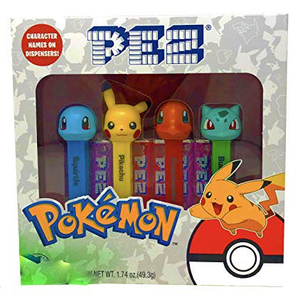 Pez Pokemon Candy and Dispensers Gift Set – Pikachu, Charmander, Bulbasaur, Squirtle