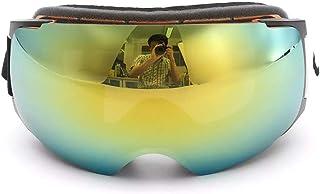 Yiph-Sunglass Gafas de Sol Montar al Aire Libre Gafas De Esquí con Montura Dorada Gafas De Esquí Imán Doble Lente Antivaho Y Anti UV