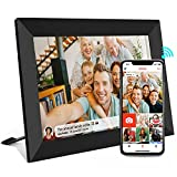Frameo Digital Picture Frames WiFi 10.1 Inch 1366x768 IPS Touch Screen,Auto-Rotate Portrait & Landscape,16GB Storage,Wall-Mountable,Easy Setup to Share Photos or Videos via Free Frameo APP