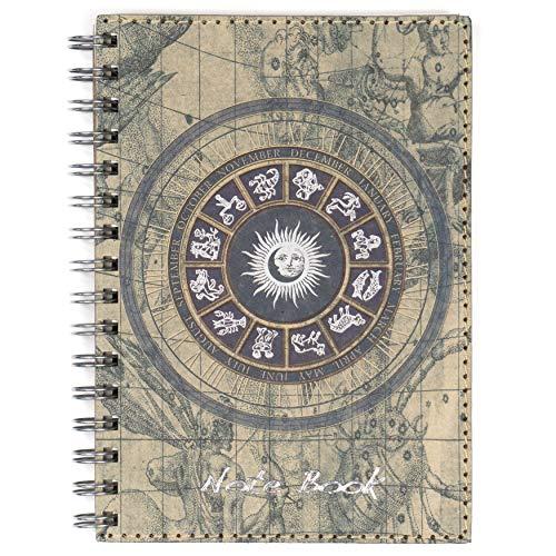 Libreta de anillas A5 Hojas blancas, cuaderno bloc de notas mediano para escribir y tomar apuntes, 100 páginas lisas, Bonita y original portada temática.