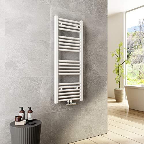 Heilmetz 1000x400mm Badheizkörper 481 Watt Leistung Weiß Handtuchtrockner Heizkörper Bad Mittelanschluss