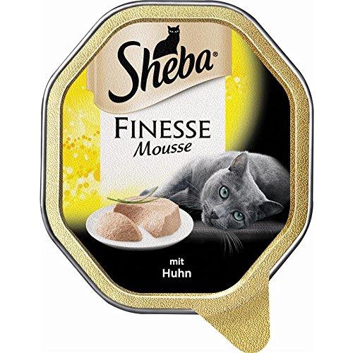 Sheba Finesse Mousse mit Huhn 22 x 85g Katzenfutter Nass