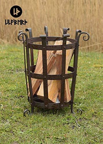 Ulfberth Geschmiedeter Feuerkorb aus Stahl Feuerschale Lagerfeuer