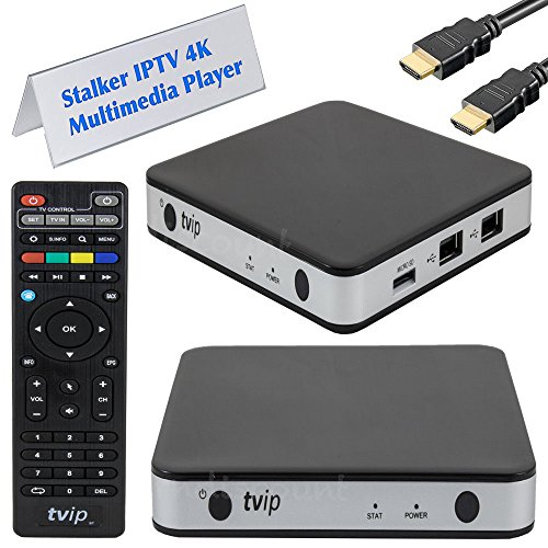 TVIP S-Box v.605 IPTV 4K HEVC HD Android 6.0 Linux Multimedia Stalker IP TV Streamer 1GB RAM + 8GB eMMC, MicroSD Card, ext.IR inkl. 5GHz Wlan