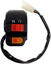 MMG Right Side RH Starter Switch (Electric Starter Button plus Kill Switch) for Scooters 50cc - 4 Wires/Pin Connector