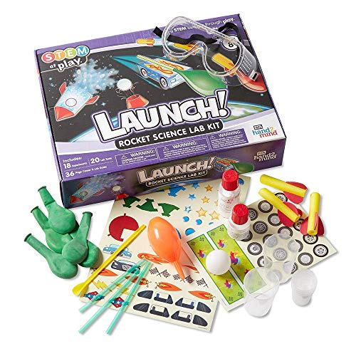 hand2mind Launch! Rocket Kids Science Kits, 18 STEM Experiments and Activities, Make Your Own Rocket, Solar System & Rocket Races   Educational Toys   STEM Authenticated