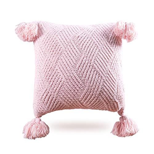 MYLUNE HOME - Funda de cojín de chenilla (45 x 45 cm), color rosa