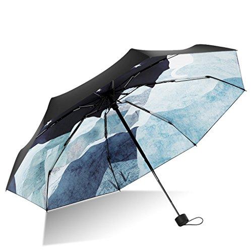 Debajo los contenedores encimera Cocina Parasol Paraguas Protector Solar Ultraligero Paraguas Ultravioleta portátil Paraguas automático Soleado Lluvia Dual (Size : L)