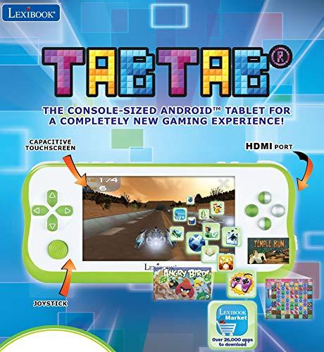 LEXIBOOK Tabtab Tablet Consola De Videojugos 5'', Camara Fotos Integrada, WiFi, Android,...
