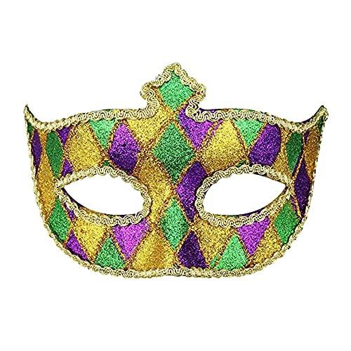 Masquerade Mask Couple Halloween Masks Venetian Men & Women Mardi Gras...