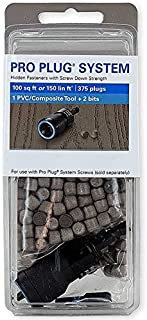 Pro Plug PVC Plugs and Pro Plug PVC Tool for Trex Rope Swing Decking, 375 Plugs for 100 sq ft, 1 Tool