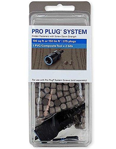 Pro Plug PVC Plugs and Pro Plug PVC Tool for Trex Select Saddle Decking, 375 Plugs for 100 sq ft, 1 Tool
