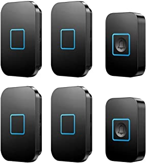 LEZDPP Wireless Home Doorbell Doorbell Remote Pager Old Man Electronic Doorbell Two Tow Four Receiving No Battery
