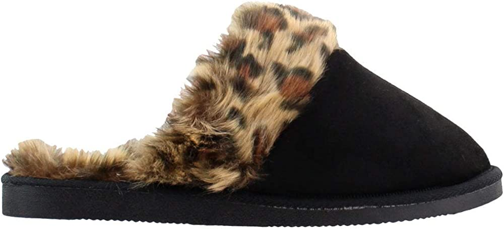 Corkys Womens Snooze Scuff Slippers Casual - Black