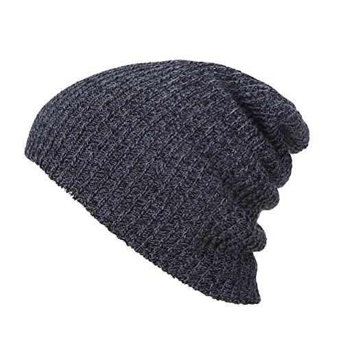 BESTOYARD Unisex-Slouchy-Wintermütze gestrickte Mütze weiche warme Ski-Mütze Hip-Pop-Mütze für Männer und Frauen (schwarz)