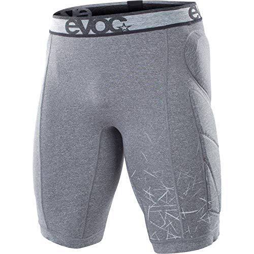 EVOC CRASH PANTS Fahrradhose Schutzkleidung für Mountainbike-, Rennrad- & Fahrradtouren (Größe: M, Hüftprotektoren, Polsterungen für Hüfte, Becken & Steißbein), Carbon Grau