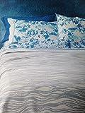 Zucchi – Tagesdecke für Doppelbett, Wellen, 260 x 260 cm, 6 Beige, Jacquard-Stoff, 100 prozent Baumwolle
