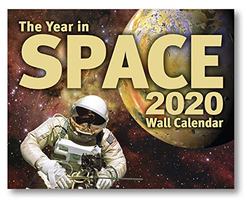 """The Year in Space 2020 Wall Calendar, Large Format 14.5"""" x 23"""" When Open, Over 120 Astronomy & Space Exploration Images, Moon Phases, Space History, Sky Events"""