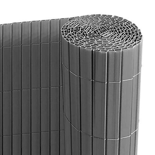 Ribelli® PVC Sichtschutzmatte mit Steg, extra stabil Sichtschutzzaun Sichtschutz Zaun Balkon Windschutz (120 x 300 cm, anthrazit)