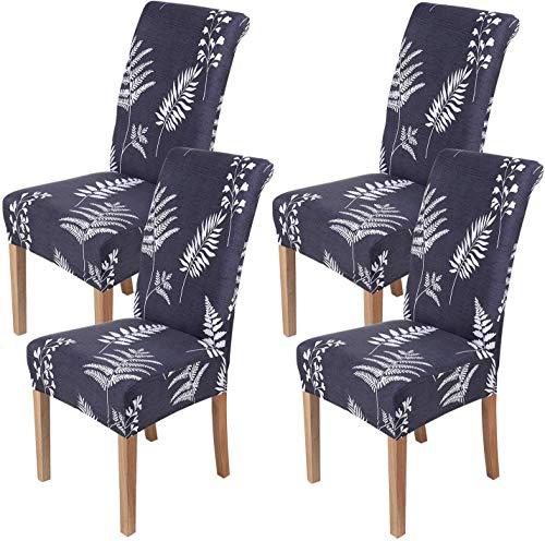 Homaxy Universal Stretch Stuhlhussen 2er 4er 6er Set Stuhlbezug für Stuhl Esszimmer (4er Set, Style 9)