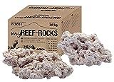 ARKA Aquatics MRRMIX myReef-Rocks - natürliches Riff-Gestein, auch für Cichliden-Aquarien geeignet, hochporös, schadstofffrei, 20 kg, Einheitsgröße