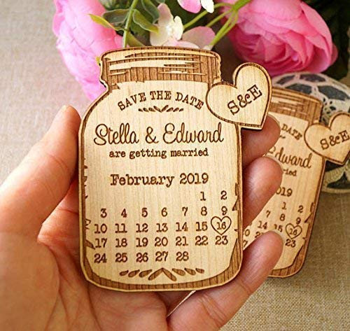 Save the date, wedding announcement magnets, save the dates, wedding save the date, wooden save the date magnets, mason jar magnets, 25 pc