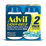 Advil Pain Reliever-Fever Reducer Liqui-Gels, 120 Caps (Pack of 2)