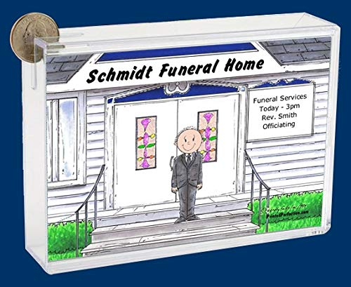 Personalized Friendly Folks Cartoon Caricature Bank: Funeral Director, Funeral Home, Mortician – Male