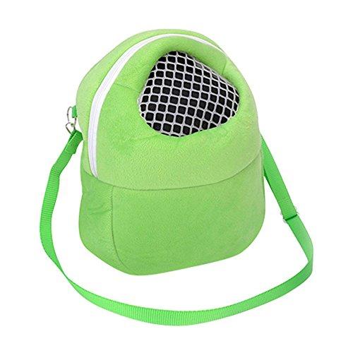 Crewell Kleine Tiere Tragbar Aufhängen Transporttasche für Ratten Hamster Chinchilla Pet Supplies, Grün, S