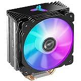 Jonsbo CR-1000 CPU-Kühler - RGB - 120-mm-PWM-Lüfter , Cpu Cooler für Intel und AMD CPUs, Wärmeleitpaste Cpu Enthalten - Schwarz