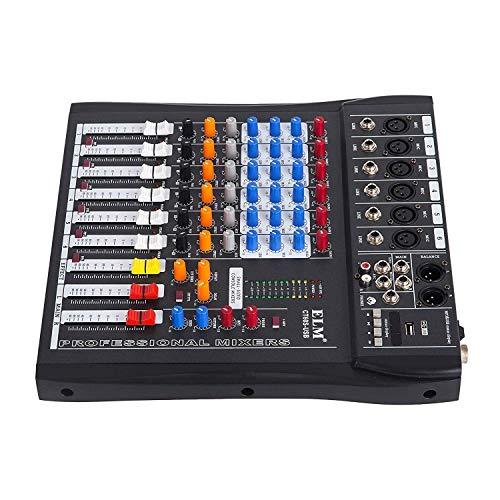 buoqua 12 canales, audio digital Mic Line Licuadora USB DJ Mixer ...