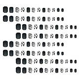 Luxshiny 96 Piezas de Uñas de Vaca en Blanco Y Cubierta Completa Prensa Artificial en Las Uñas Pegatina de Uñas de Bailarina Mate Uñas de Gel Falsas Consejos de Arte para