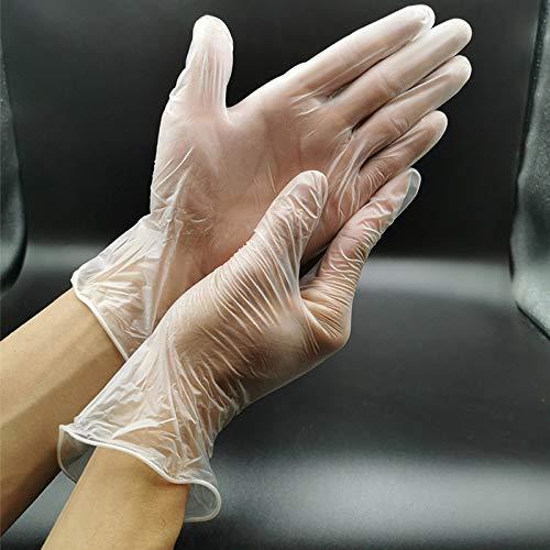 Skdvy 100 guanti monouso trasparenti Guanti in PVC del tatuaggio di bellezza di protezione di cottura Guanti (Size : Transparent Extra Large)
