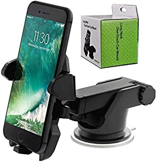 HEMOVIA Car Mobile Phone Holder - One Touch Long Neck Arm 360 Degree Rotation   Ultimate Reusable Suction Cup Mount for Da...