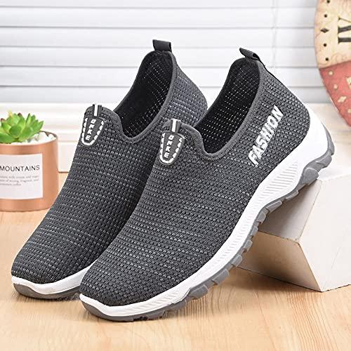 Women's Air Running Shoes,Zapatillas de Deporte Masculinas de Ocio, Zapatillas de Senderismo al Aire Libre para Correr-Gray_40,Correr por senderos