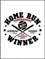 【FOX REPUBLIC】【アメリカ 野球 ホームラン ロゴ】 白光沢紙(フレーム無し)A4サイズ