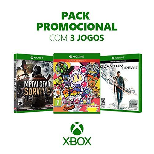 Box Games - Metal Gear Survive + Super Bomberman R + Quantum Break - Xbox One