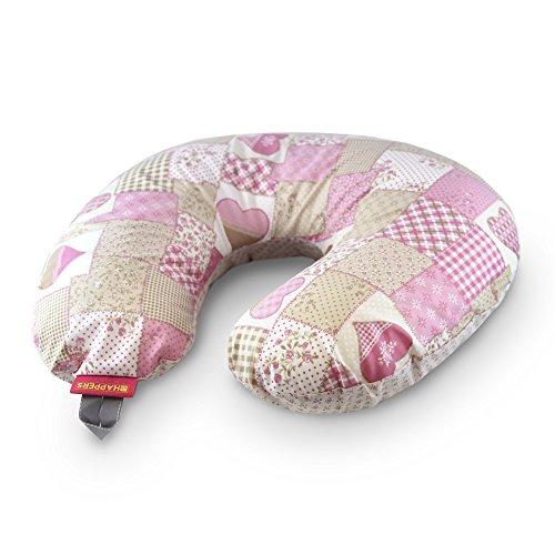 Happers - Cuscino da allattamento compatto, colori assortiti Patchwork rosa