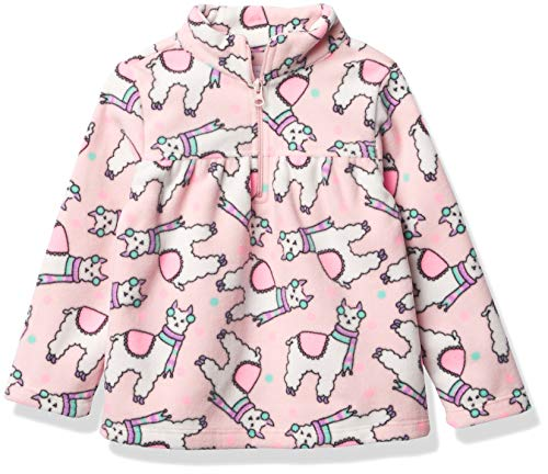 The Children's Place Girls' Toddler Print Glacier -Fleece Half Zip Pullover, Pink, 3T