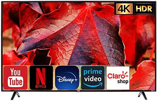 "TCL 55"" Smart Roku TV 4K HDR Televisor Ultra HD Pantalla LED TV con HDR Wi-Fi Netflix YouTube Hulu Vudu y más 55S421 (Renewed)"