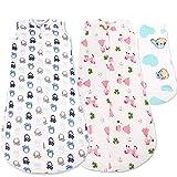 Baby-Schlafsack von iQ-med®   75cm   Schlafsack für den Sommer   aus 100% kuschelweicher Baumwolle   Babyschlafsack, Sommer-Schlafsack, Kinder-Schlafsack, Baby-Decke, Baby-Fußsack, Swaddle(Pink)