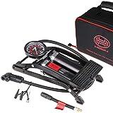 HEYNER PedalMax PRO Negro Edición Premium Doble bomba de pie cilindro 140PSI 10bar con co...