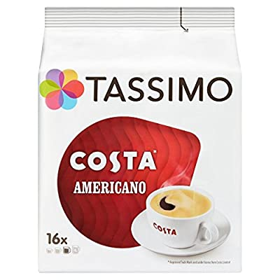 TASSIMO Costa Americano 16 T Discs (Pack of 5, Total 80 T Discs-pods)
