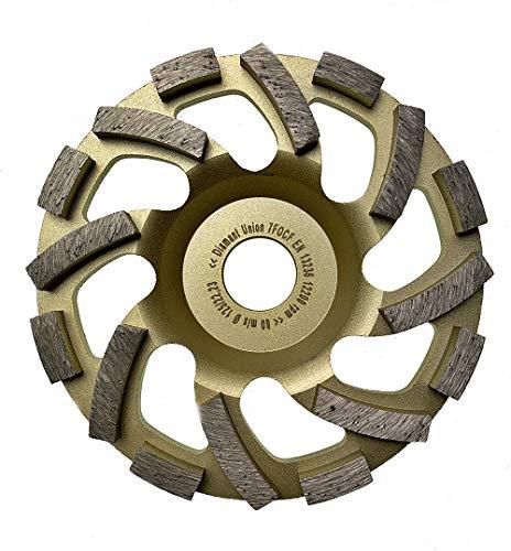 125 mm Diamant Schleiftopf, Turbo Schrägsegmente, grosse Absaugöffnungen, Beton, Estrich, Granit, Fliesenkleber, PREMIUM 16 Segmente