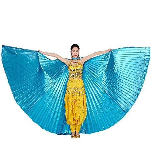 Baohooya Chal de Alas de Danza del Vientre - Chal de Alas de Mariposa Duendecillo Disfraz Pavo Real Angel Carnaval Navidad Fiesta Playa