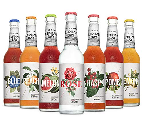 7 Flaschen Elephant Bay Ice tea Eistee Mix a 330ml inc. 0.56€ MEHRWEG Pfand
