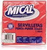 Mical Profesional Servilletas, 33 x 33 cm, con 2 Capas, Color Rojo - 50 Unidades